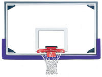 Gared Aluminum Frame Glass Backboard with Glass Retention System