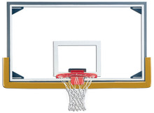 Gared Steel Frame Glass Backboard with Glass Retention System