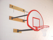 Gared Wall Mounted Basketball Backstop, Three Point