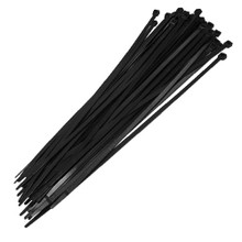 "Fence Crown 19"" Zip Ties-Black 100 per pack"