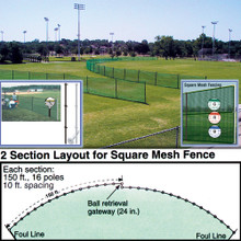 Outfield Fencing 150' Roll