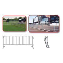 Crowd Control Steel Barricades Flat Foot