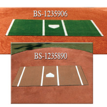 Home Plate Mat Clay 6' x 12'