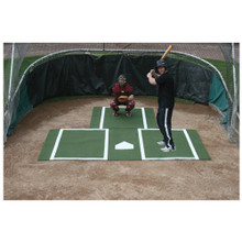 Batting Mat Pro with Catchers Extension - Green