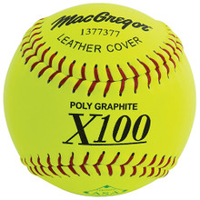"""MacGregor X52RE ASA Slow Pitch 12"""" Softball - Leather"""