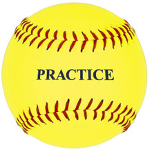 11'' Yellow Practice Softball