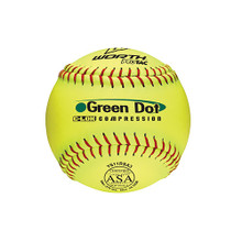 Worth™ 11 in. Green Dot Slow-Pitch Softballs (12-Pack)