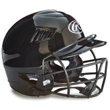 Youth Batting Helmet w/Face Guard - Black
