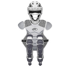 Rawlings Velo Catcher's Set Wht/Silver (Age 6-9)