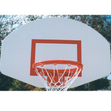 White Powder Coated Aluminum Backboard with Goal and Net