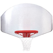 Silver Aluminum Backboard with Goal and Net