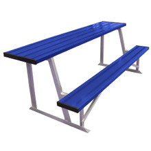 7.5' Scorer's Table With Bench (colored) 2