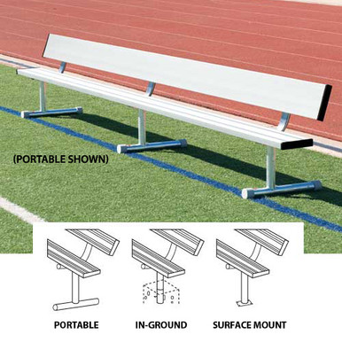 21' Surface-Mount Bench w/Back