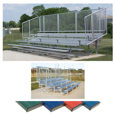 4 Row 15' Vertical Picket Bleacher 4