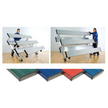2 Row 8' Tip n' Roll Bleachers (colored) 3