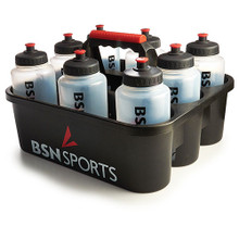 BSN SPORTS Bottle Carrier w/ 8 Qt Bottles