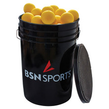 Bucket with Lacrosse Balls - Yellow