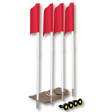 Spring Loaded Soccer Corner Flags (Set of 4)