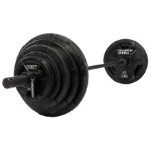 300 lb. Olympic Rubber Coated Grip Plate Set
