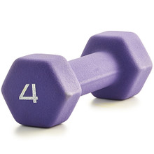 Neoprene Dumbbell  - Purple 4LB