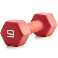 Neoprene Dumbbell - Red 9LB
