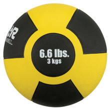 Reactor Rubber Medicine Ball 3kg YELLOW