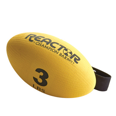 Football Shaped Hand-Held Weight - 3 lbs.