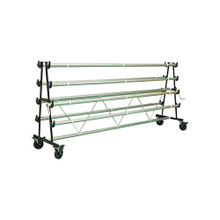 Gym Floor Cover Mobile Storage Rack - 10 Rollers