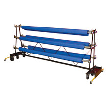 Gym Floor Cover Premier Storage Rack - 6 Rollers