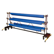 Gym Floor Cover Premier Storage Rack - 8 Rollers