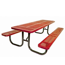 10' Heavy Duty  Shelter Table Perforated