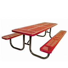 12' Heavy Duty  Shelter Table Perforated