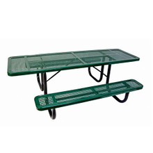 8' Two Sided  H-D ADA Table Perforated