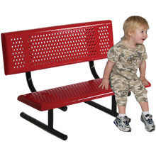 8' Portable Adult Size Bench With Back
