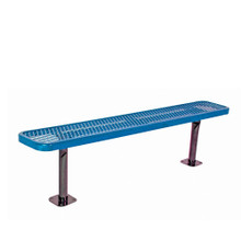 6' Park Bench w/o Back-Surf. Mnt Diamond