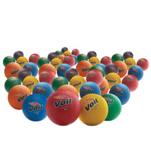 Voit® 8.5 in. Rainbow Playground Balls (48-Pack)