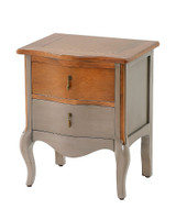 Dawson 2 Drawer Table (Cocoa) - NIN002