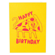 Pizza Cat Birthday Card