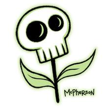 Skull Flower Sticker
