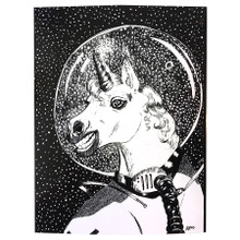Unicorn in Space Sticker