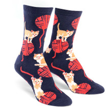 Kitten Knittin' Socks