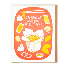 Staying In Takeout Card