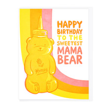 Sweetest Mama Bear Birthday Card