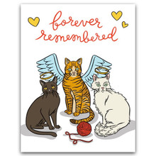 Forever Remembered Cat Card
