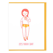 It's Your Day Pizza Head Card