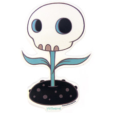 Skull Night Flower Sticker