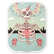 Skeleton Heart Sticker