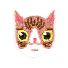 Brown + White Cat Sticker Patch