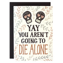 Die Alone Wedding Card