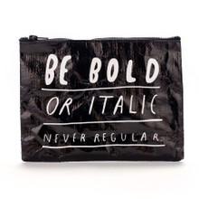 Bold or Italic Zipper Pouch